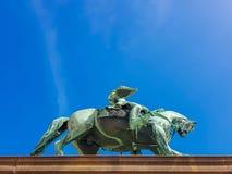 Estatua de rey Karl Johan delante de Royal Palace, Oslo, Noruega imágenes de archivo libres de regalías