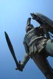 Estatua de rey Leonidas Imagenes de archivo
