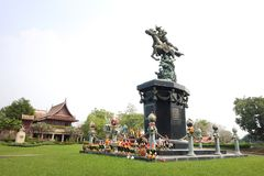 Estatua de rey Taksin fotografía de archivo libre de regalías