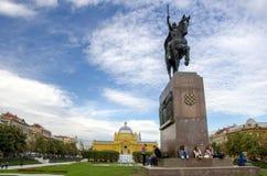 Estatua de rey Tomislav, Zagreb fotografía de archivo libre de regalías