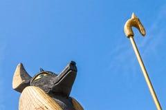Estatua de rey Tut Imágenes de archivo libres de regalías