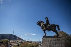 Estatua de rey Vakhtang Gorgasali Fotos de archivo libres de regalías