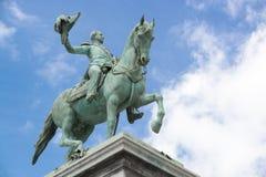 Estatua de rey Willem II fotografía de archivo