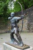 Estatua de Robin Hood Fotos de archivo