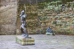 Estatua de Robin Hood Foto de archivo libre de regalías