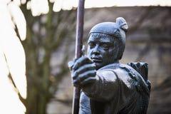 Estatua de Robin Hood Imágenes de archivo libres de regalías