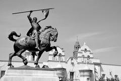 Estatua de Rodrigo Diaz de Vivar (El Cid) foto de archivo