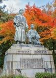 Estatua de Sakamoto Ryoma con Nakaoka Shintaro foto de archivo