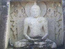 Estatua de Samadhi Buda en Thanthirimale Fotografía de archivo