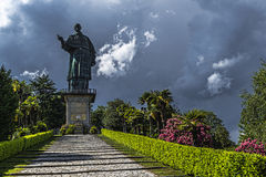 Estatua de San Carlo, Arona Imagenes de archivo
