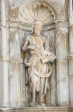 Estatua de San Juan Bautista, Coímbra, Portugal Imágenes de archivo libres de regalías