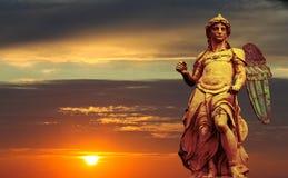 Estatua de San Miguel Foto de archivo