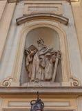 Estatua de San Pablo de la iglesia cruzada santa en Varsovia, Polonia Fotografía de archivo