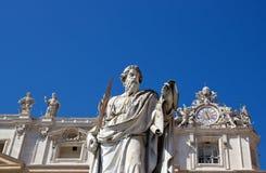 Estatua de San Pedro Vatican Roma (Italia) foto de archivo
