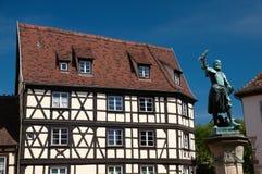 Estatua de Schwendi, Colmar, Alsacia Fotografía de archivo libre de regalías