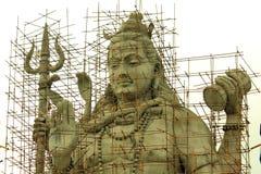 Estatua de señor Shiva Under Construction Foto de archivo