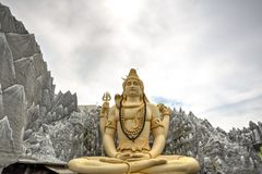 Estatua de Shiva en Bangalore, la India imágenes de archivo libres de regalías
