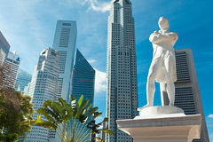 Estatua de sir Raffles, Singapur Foto de archivo