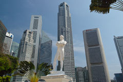 Estatua de sir Raffles, Singapur Imagen de archivo