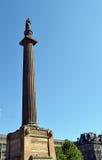 Estatua de Sir Walter Scott, George Square, Glasgow, Escocia Fotos de archivo