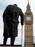 Estatua de sir Winston Churchill Foto de archivo libre de regalías