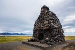 Estatua de Snaefellsnes de la saga de Bardar, Islandia Fotos de archivo libres de regalías