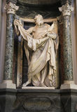 Estatua de St Bartholomew de Pierre Le Gros el más joven Fotos de archivo libres de regalías
