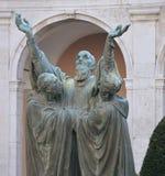 Estatua de St Benedicto Imagen de archivo libre de regalías