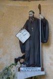 Estatua de St Benedicto en Farfa fotos de archivo libres de regalías