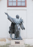 Estatua de St Francis de Assisi Fotos de archivo libres de regalías