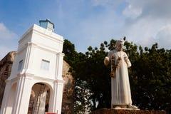 Estatua de St Francis Javier Imagen de archivo libre de regalías