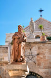 Estatua de St Jerome Stridonskogo en la iglesia de la natividad en B Imagen de archivo
