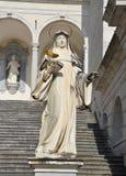 Estatua de St Scholastica, Monte Cassino Imagen de archivo