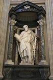 Estatua de St Simon de Francesco Moratti Foto de archivo libre de regalías
