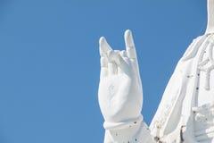 Estatua de Tailandia Guan Yin bajo construcción fotografía de archivo