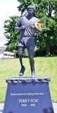 Estatua de Terry Fox foto de archivo