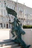 Estatua de tiradores en Trieste, Italia Fotos de archivo libres de regalías