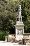Estatua de Titus Salt en Roberts Park, Saltaire imagenes de archivo
