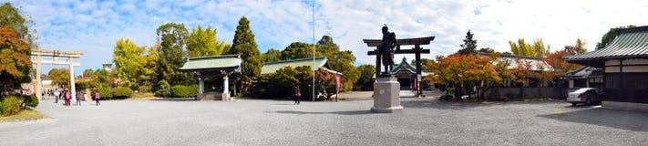 Estatua de Toyotomi Hideyoshi en Osaka Castle, Osaka Fotos de archivo