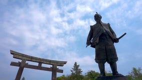 Estatua de Toyotomi Hideyoshi un gran guerrero del samurai