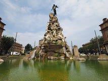 Estatua de Traforo del Frejus en Turín Fotos de archivo