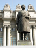 Estatua de un arranque de cinta soviético Foto de archivo libre de regalías