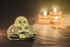 Estatua de un Buddha meditating imágenes de archivo libres de regalías