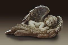 Estatua de un cupido infantil lindo del ángel Imagen de archivo libre de regalías