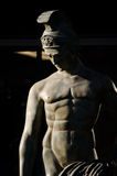 Estatua de un Griego o de Roman Warrior Fotos de archivo