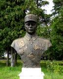 Estatua de un héroe en Marasesti, conmemorativa del WWI Foto de archivo libre de regalías
