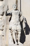 Estatua de un líder militar romano Foto de archivo