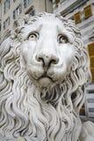 Estatua de un león, Génova imagen de archivo libre de regalías