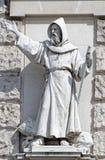 Estatua de un monje Fotografía de archivo