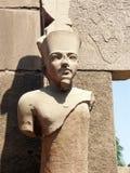 Estatua de un Pharaoh Imagenes de archivo